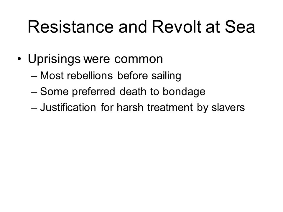 Resistance and Revolt at Sea