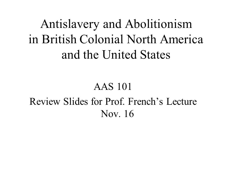 Review Slides for Prof. French's Lecture Nov. 16