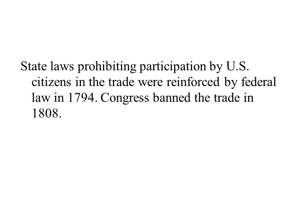 State laws prohibiting participation by U. S