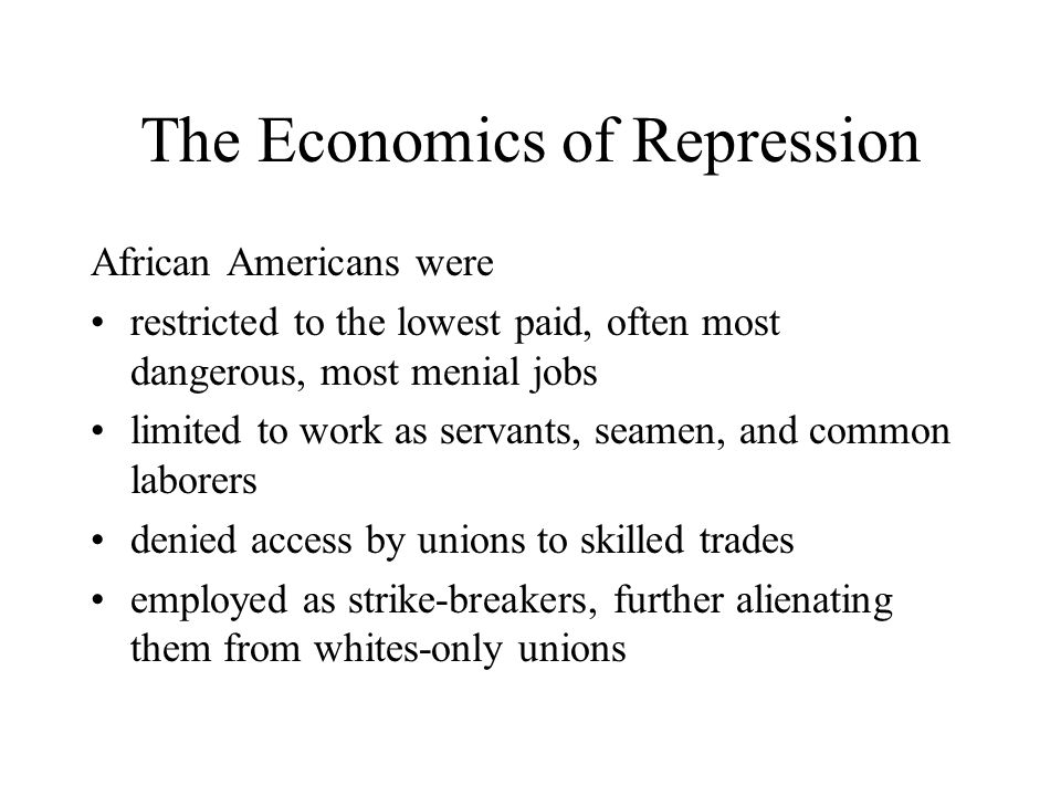 The Economics of Repression