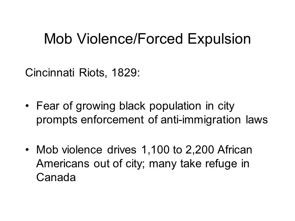 Mob Violence/Forced Expulsion