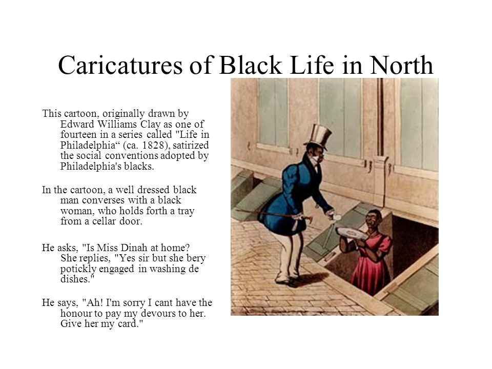Caricatures of Black Life in North
