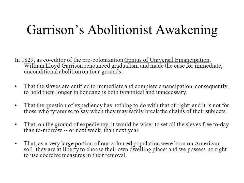 Garrison's Abolitionist Awakening