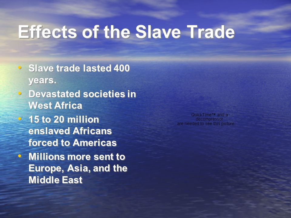 effects of slave trade This essay will not only identify the factors responsible for the abolition of atlantic slave trade but will also comment on the impact of abolition on the economic.