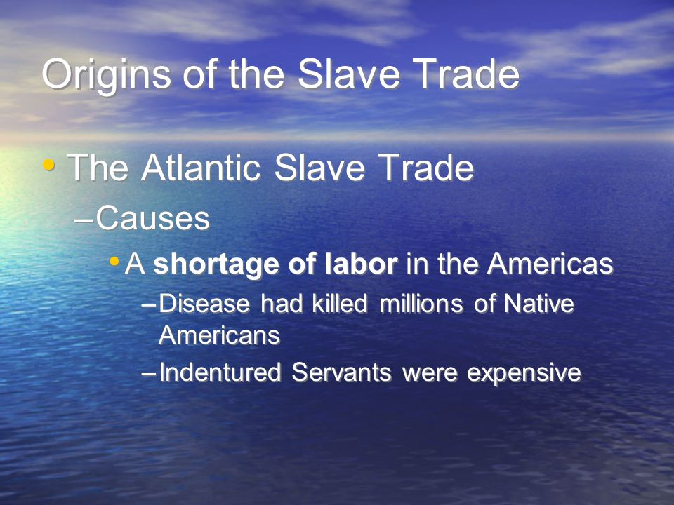 Origins of the Slave Trade