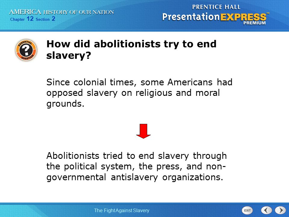 How did abolitionists try to end slavery