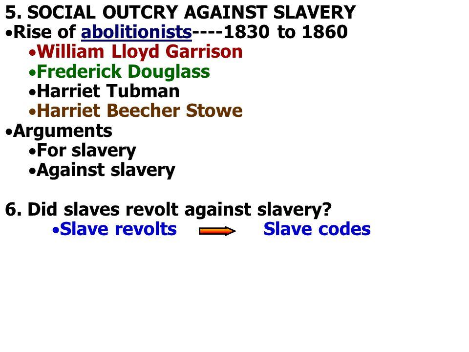 5. SOCIAL OUTCRY AGAINST SLAVERY