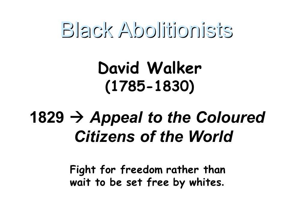 Black Abolitionists David Walker (1785-1830)