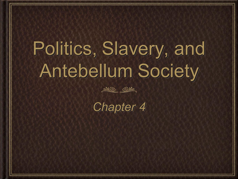 Politics, Slavery, and Antebellum Society