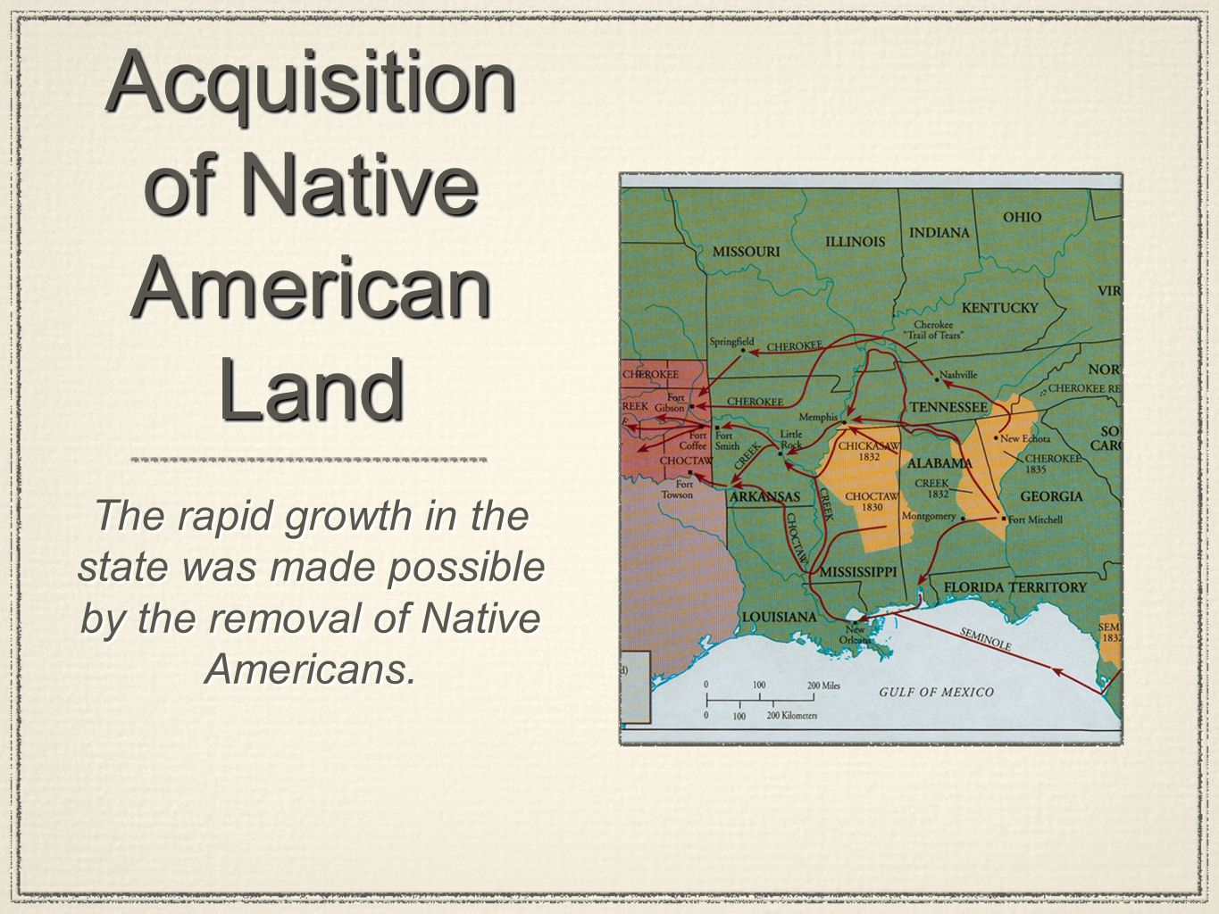 Acquisition of Native American Land