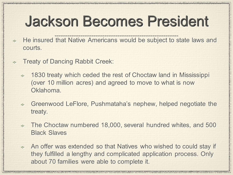 Jackson Becomes President
