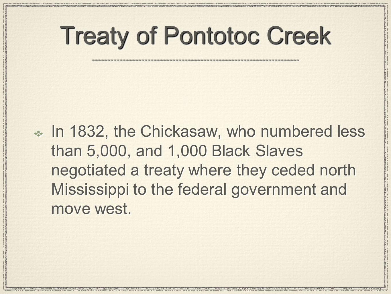 Treaty of Pontotoc Creek