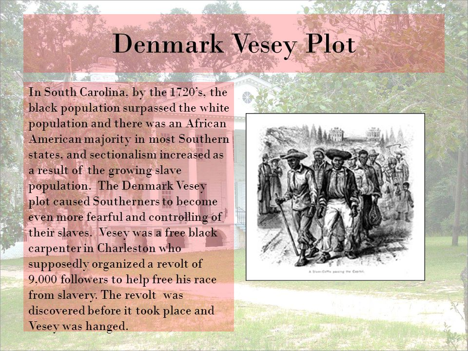 Denmark Vesey Plot