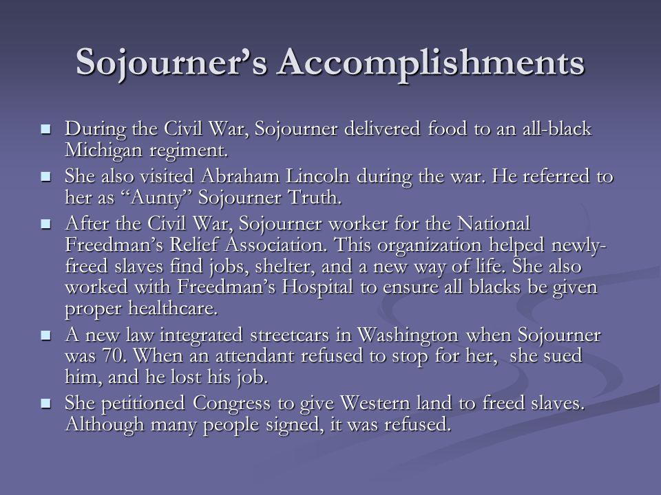 Sojourner's Accomplishments