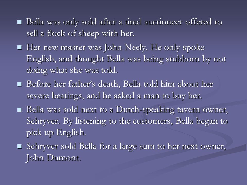Bella was only sold after a tired auctioneer offered to sell a flock of sheep with her.