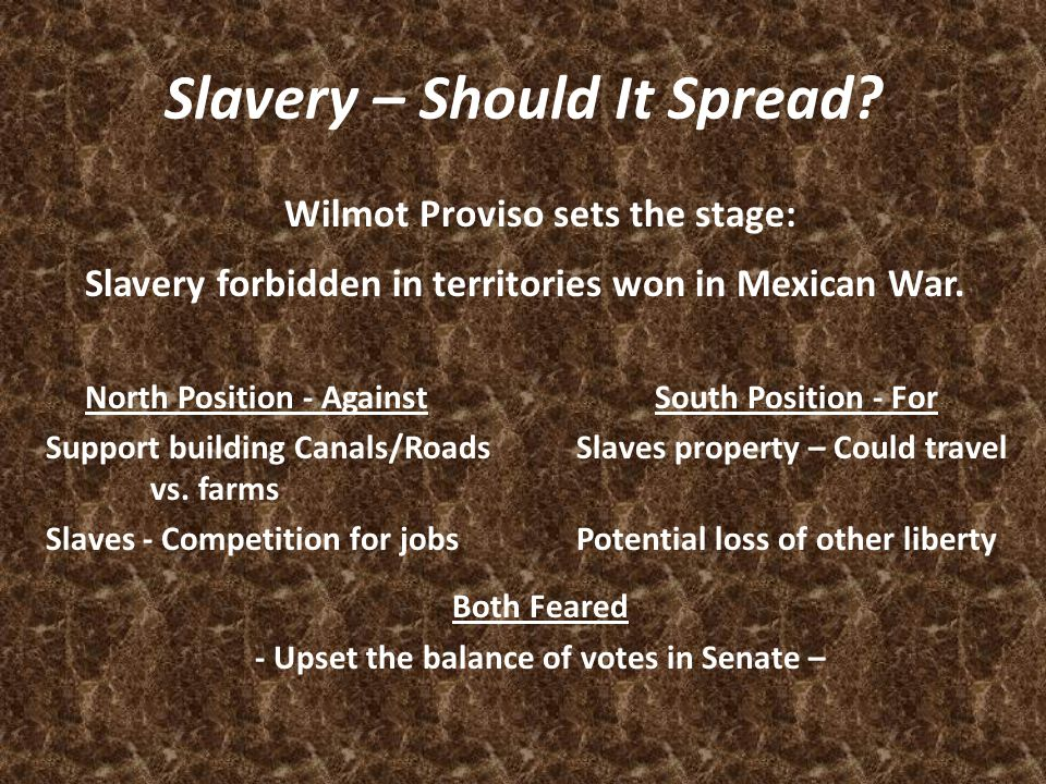 Slavery – Should It Spread