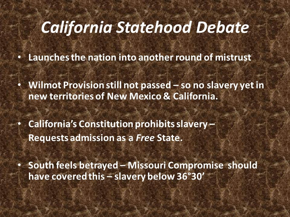 California Statehood Debate