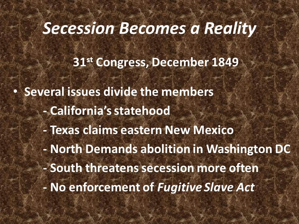 Secession Becomes a Reality