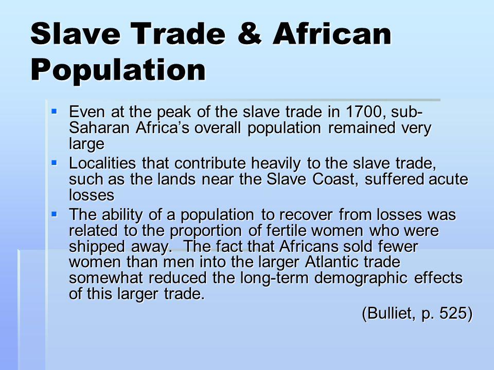 Slave Trade & African Population