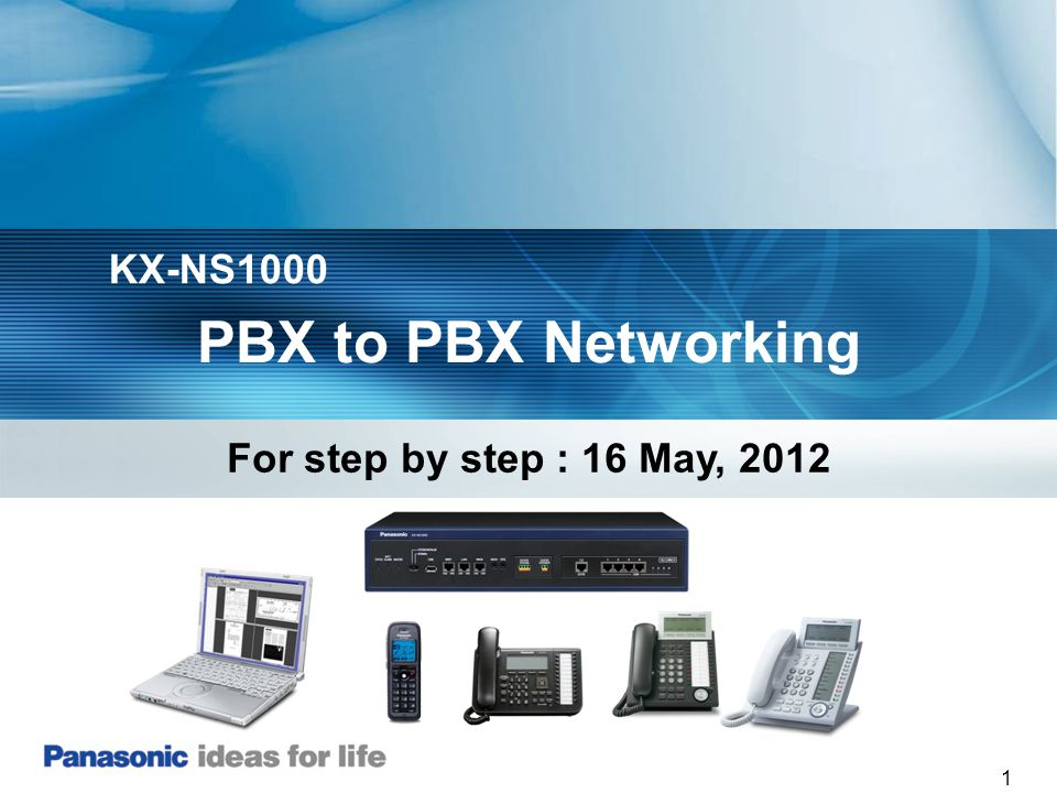 KX-NS1000 PBX to PBX Networking For step by step : 16 May, 2012
