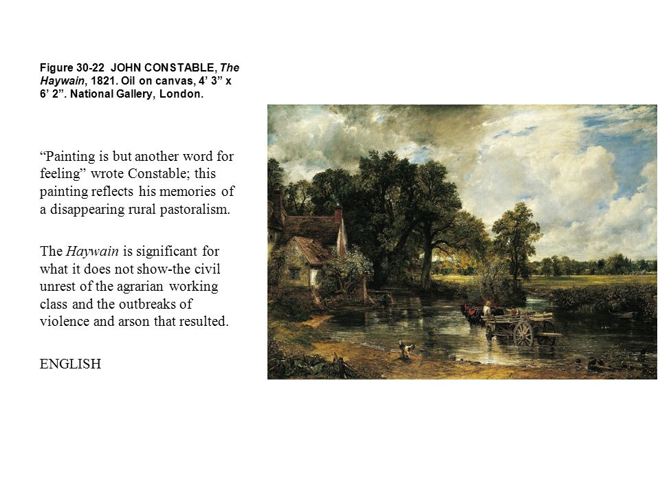 Figure 30-22 JOHN CONSTABLE, The Haywain, 1821