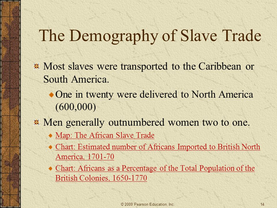 The Demography of Slave Trade