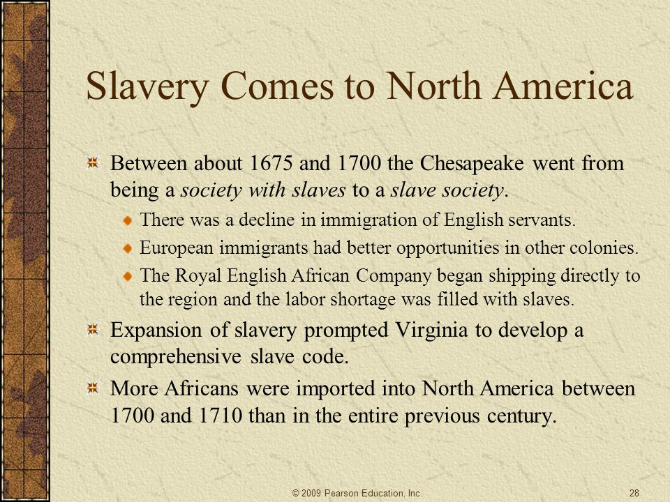 Slavery Comes to North America