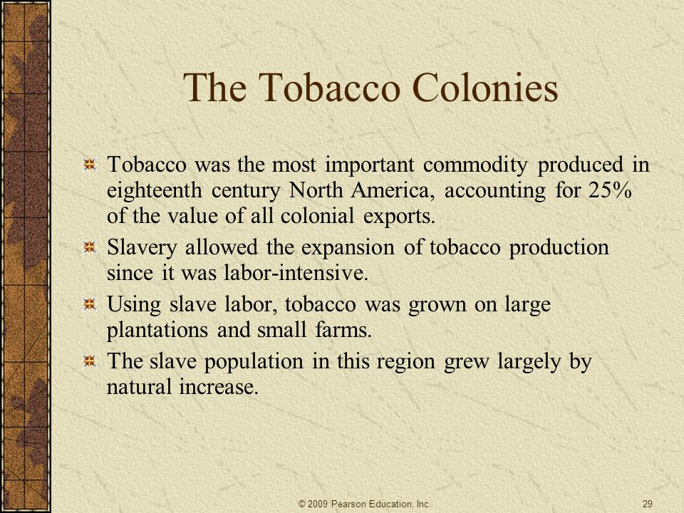 The Tobacco Colonies