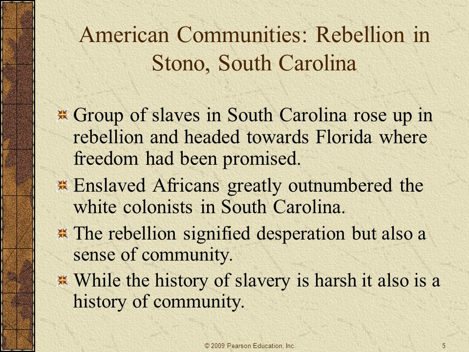 American Communities: Rebellion in Stono, South Carolina