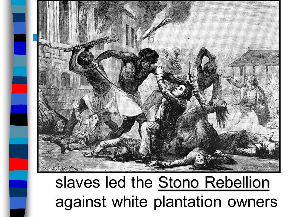 The Slave Population Slavery led to resistance: