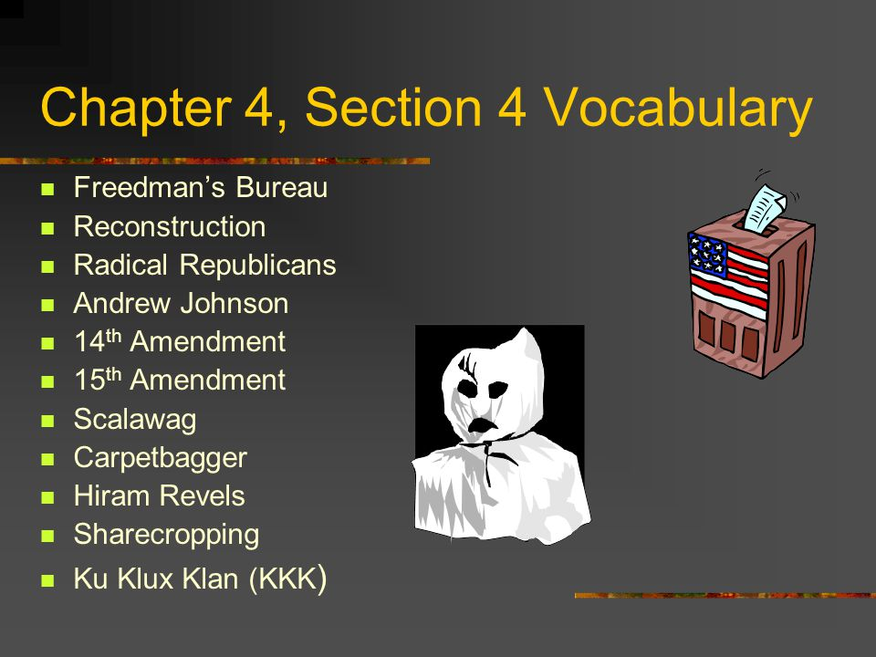 Chapter 4, Section 4 Vocabulary