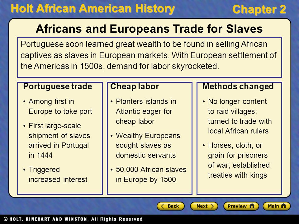 Africans and Europeans Trade for Slaves