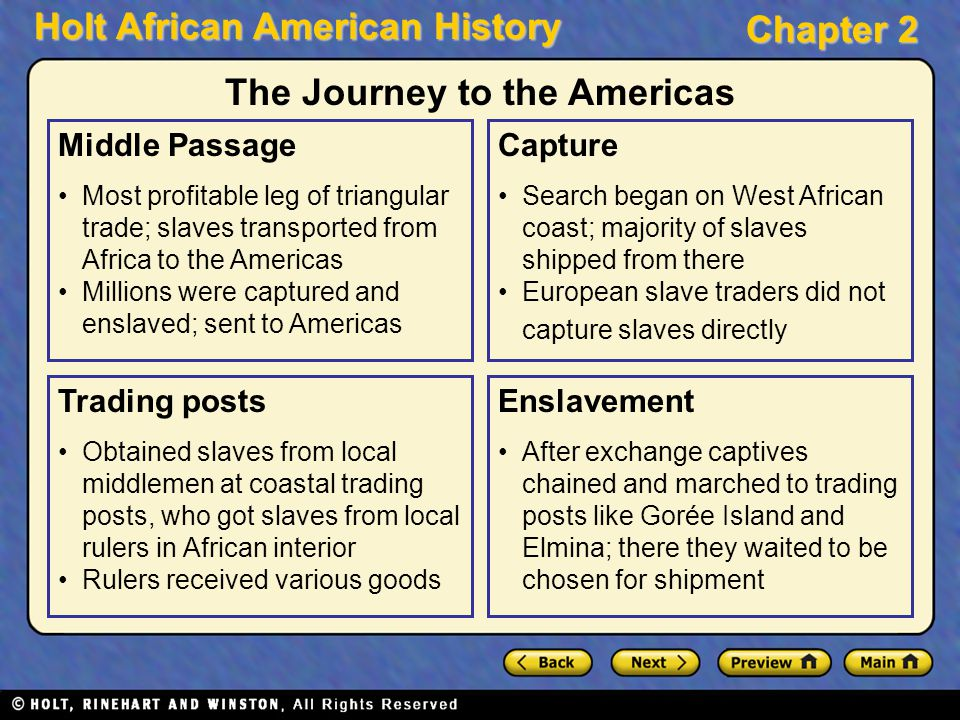 The Journey to the Americas