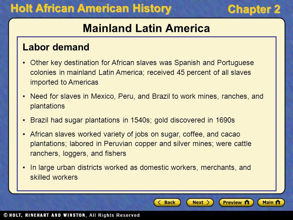 Mainland Latin America