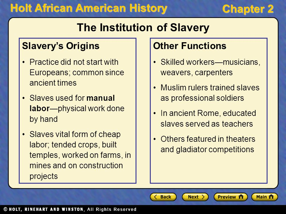 when did slavery start in america Featured topic - slavery in latin america when british clergyman robert walsh arrived in the brazilian capital of rio de janeiro in 1828, he was struck both by the sheer size of the city's.
