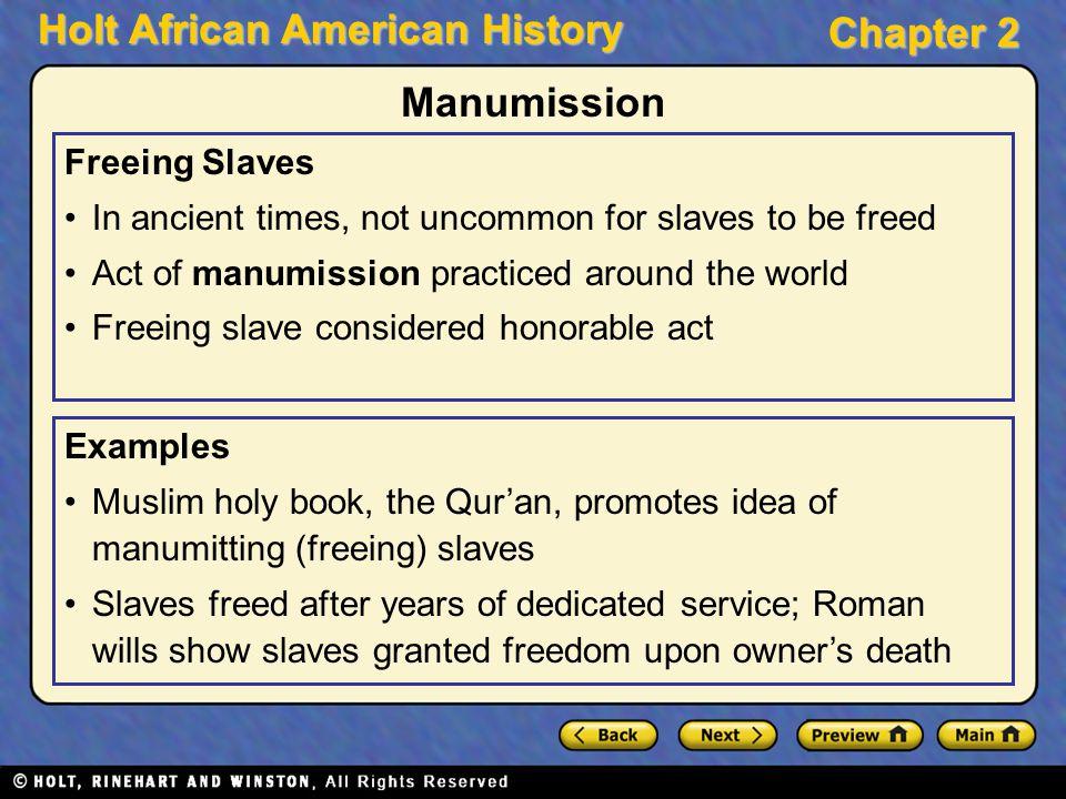 Manumission Freeing Slaves