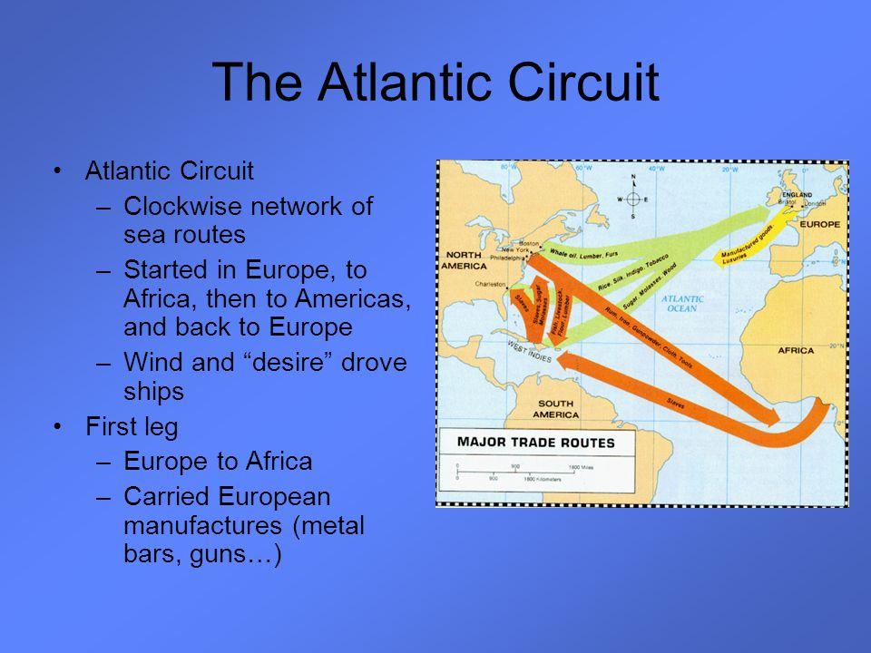 The Atlantic Circuit Atlantic Circuit Clockwise network of sea routes