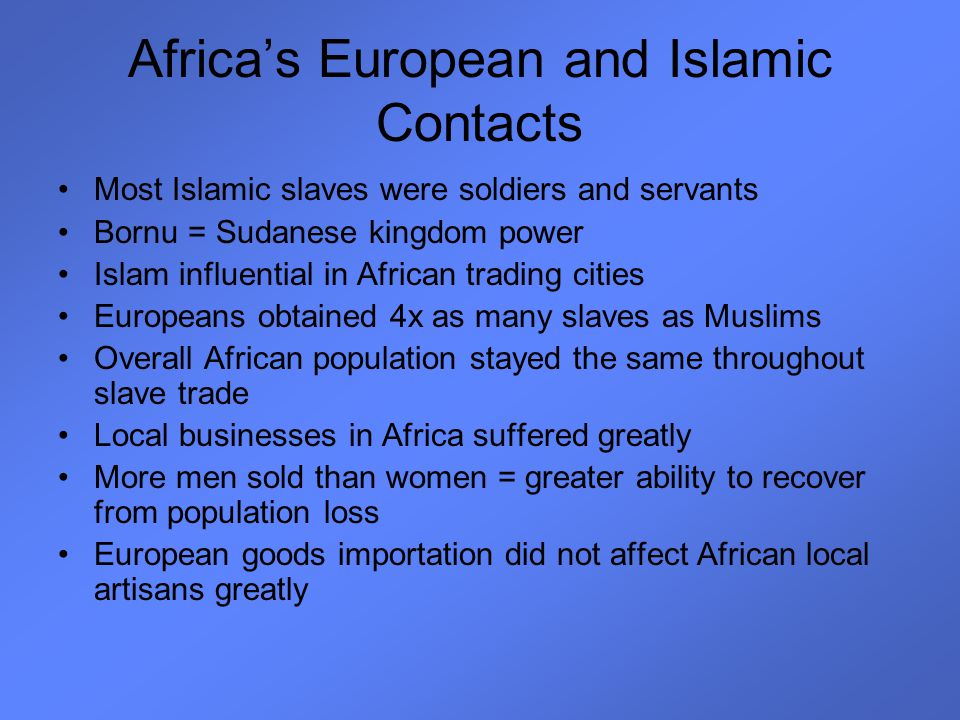 Africa's European and Islamic Contacts