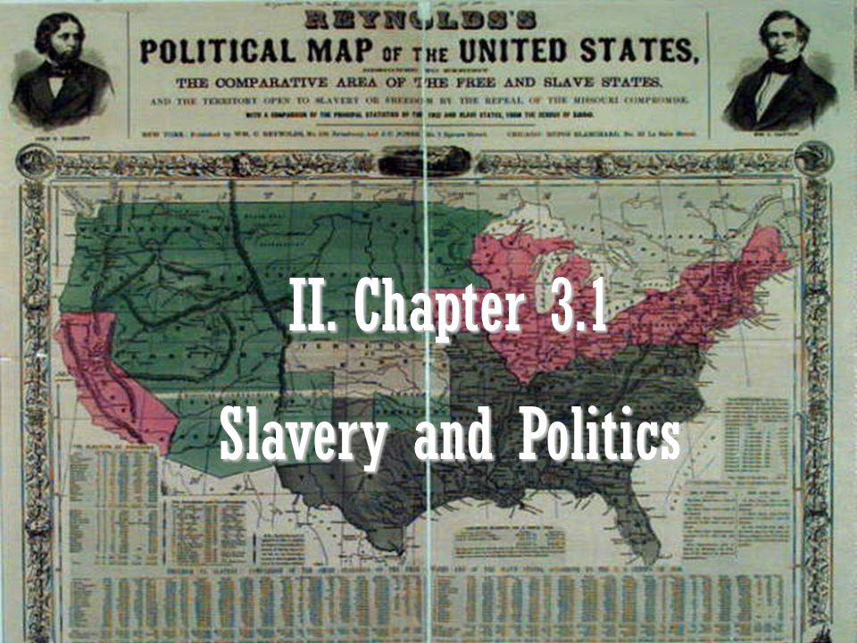 II. Chapter 3.1 Slavery and Politics