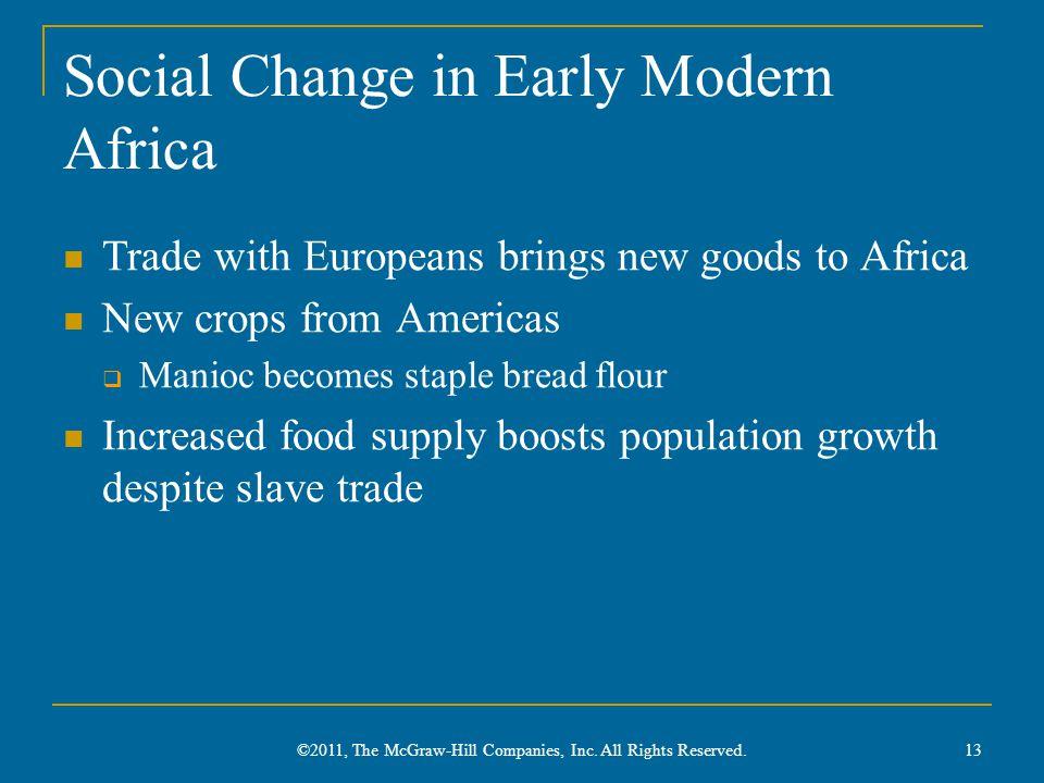 Social Change in Early Modern Africa