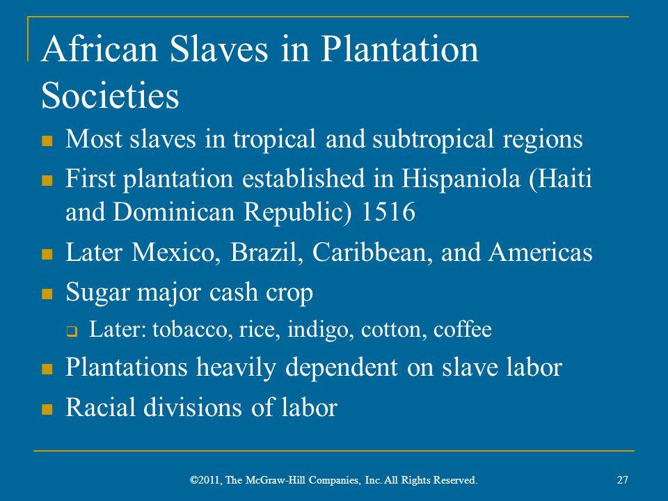 African Slaves in Plantation Societies