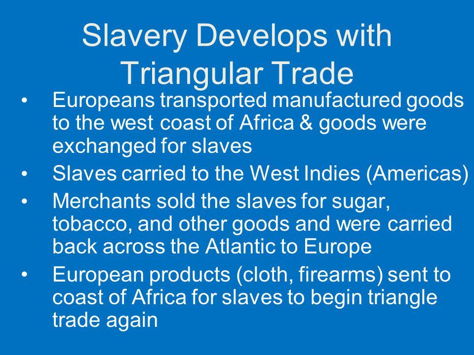 Slavery Develops with Triangular Trade