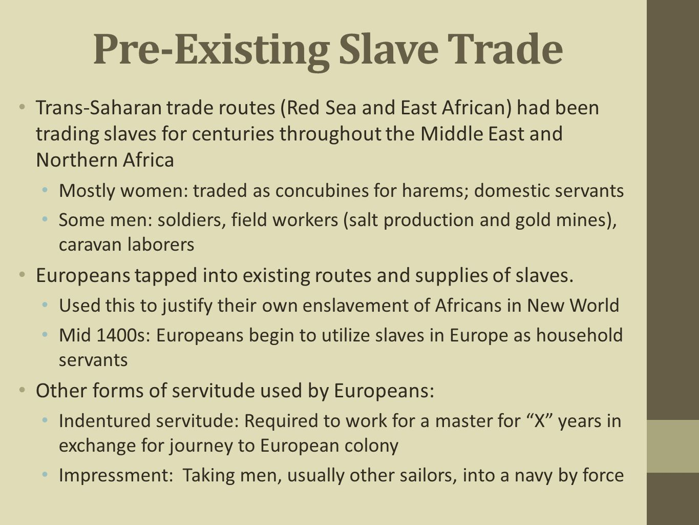 from indentured servitude to slavery essay Open document below is an essay on indentured servitude and slavery from anti essays, your source for research papers, essays, and term paper examples.