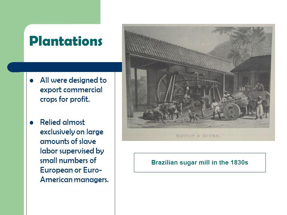 Brazilian sugar mill in the 1830s