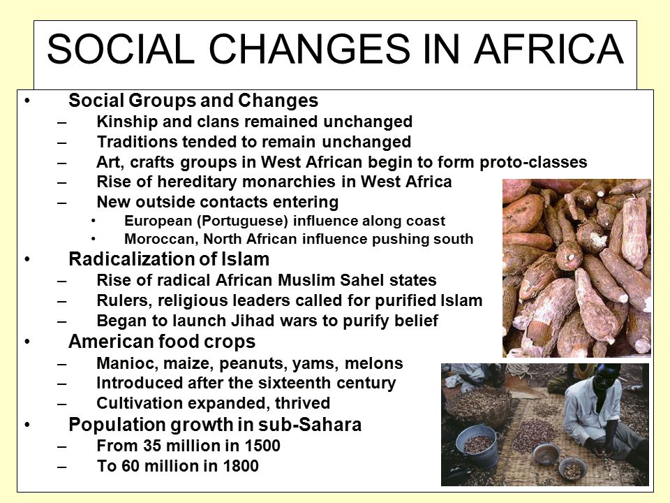 SOCIAL CHANGES IN AFRICA
