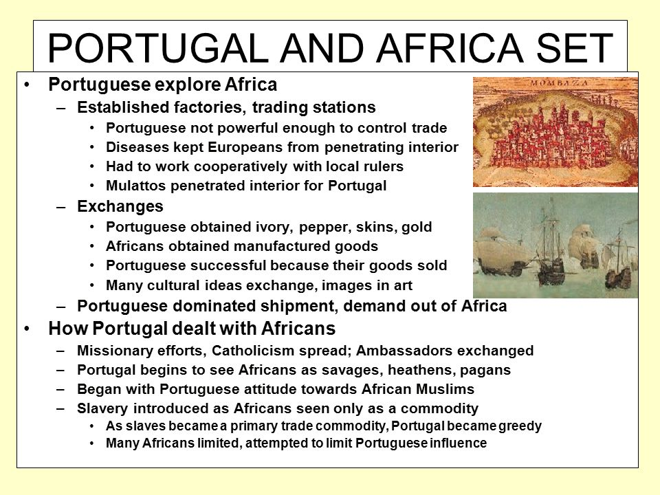 PORTUGAL AND AFRICA SET PATTERN