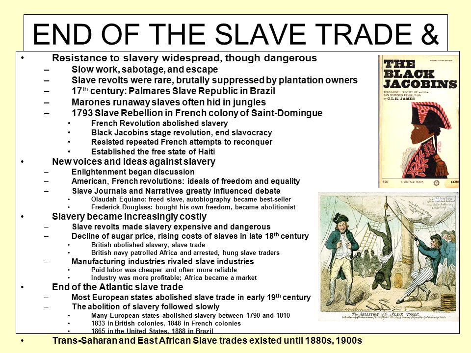 END OF THE SLAVE TRADE & ABOLITION