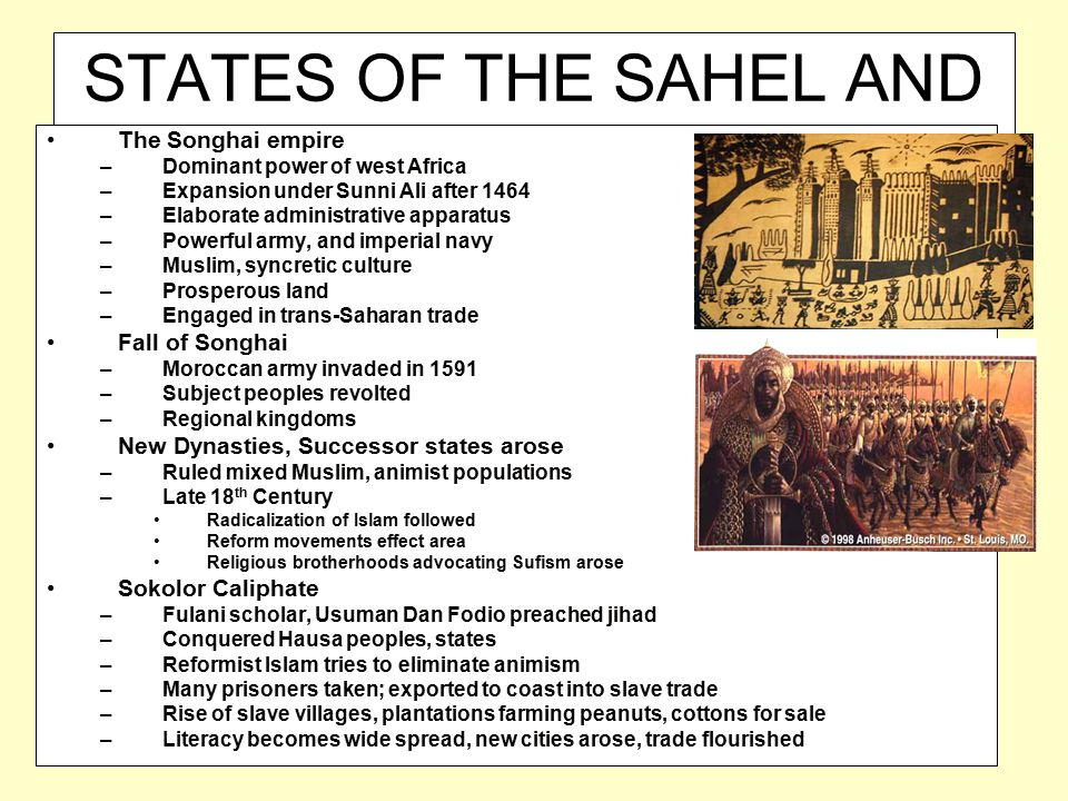 STATES OF THE SAHEL AND SUDAN