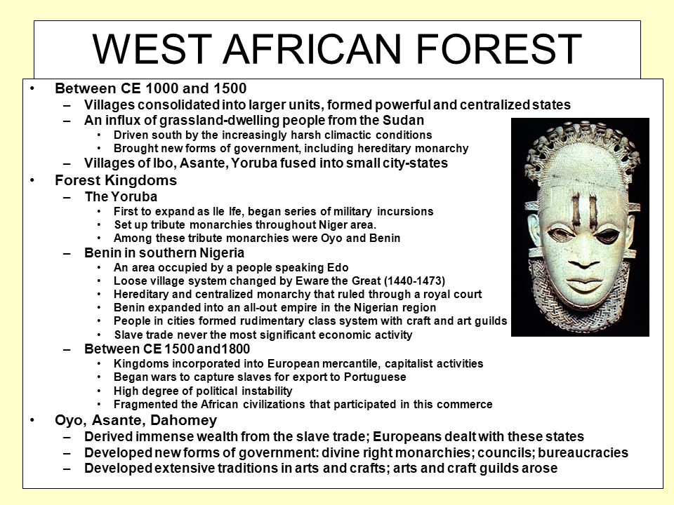 WEST AFRICAN FOREST KINGDOMS