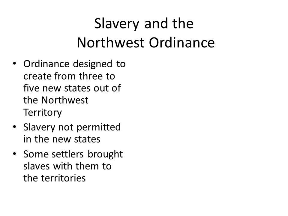 Slavery and the Northwest Ordinance